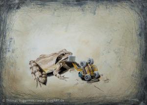 Am Baggersee - Acrylmalerei auf Leinwand 50x70cm - Thomas Guggemos