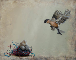 Das Kuckucksnest - Acrylmalerei auf Holz 40x50cm - Thomas Guggemos
