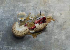 Embryo - Acrylmalerei auf Leinwand 50x70cm - Thomas Guggemos