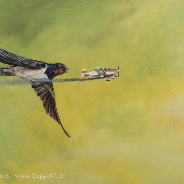 Im Fluge - Acrylmalerei auf Leinwand 42x68cm - Thomas Guggemos