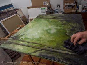 Acrylfarben Nass in Nass - Unterholz
