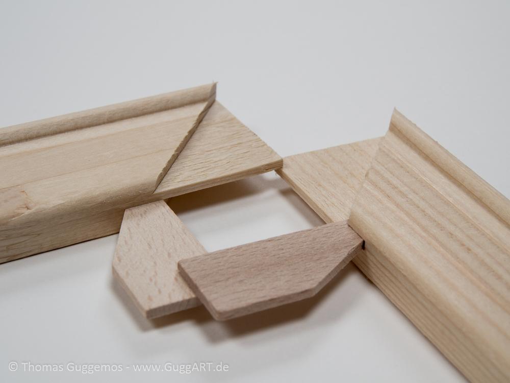Holzkeile für den Keilrahmen