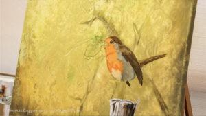 Farbbereiche des Vogels