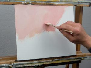 Löffel malen mit Acryl - Der Hintergrund