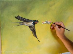 Vogel und Flugzeug malen - Flugzeug Design