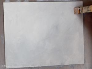 Weinglas malen mit Acrylfarbe - Grauer Hintergrund malen
