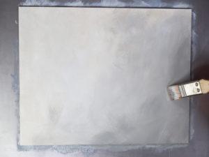 Glas malen mit Acrylfarbe - Der Hintergrund