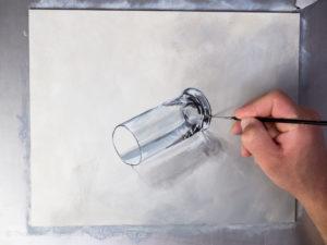 Glas malen mit Acrylfarbe - Die Glanzlichter
