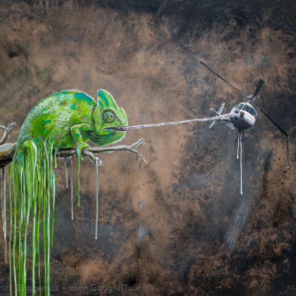 ARTENSTERBEN - Acrylmalerei auf Leinwand 100x80cm (acrylics on canvas) - Thomas Guggemos