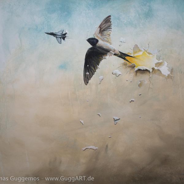 DIE ANDERE SEITE - Acrylmalerei auf Leinwand 150x120cm (acrylics on canvas) - Thomas guggemos