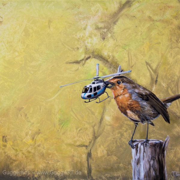 Landeplatz - Acrylmalerei auf Leinwand 50x70cm - Thomas Guggemos