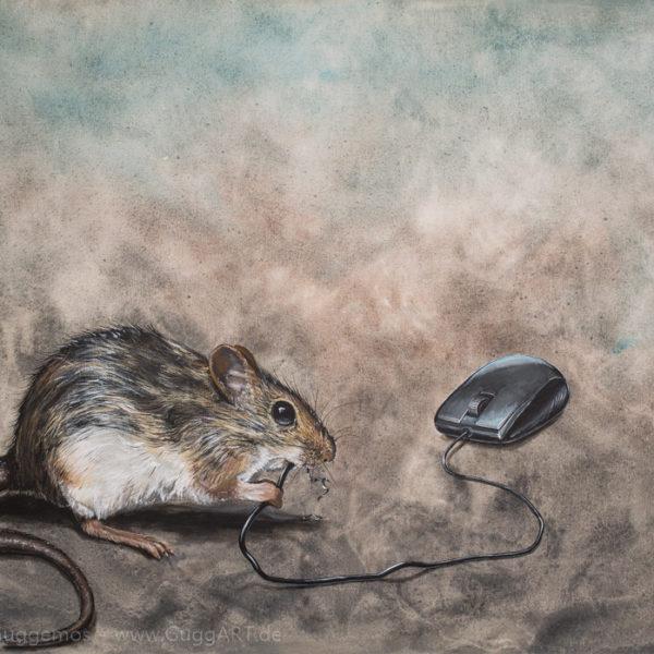 SYSTEMADMINISTRATOR - Acrylmalerei auf Leinwand 100x70cm (acrylics on canvas) - Thomas Guggemos