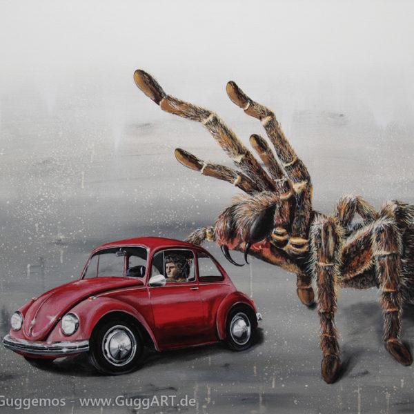 VOLLKASKO - Acryl-/Ölmalerei auf Holz 100x70cm (acrylics/oil on board), Thomas Guggemos