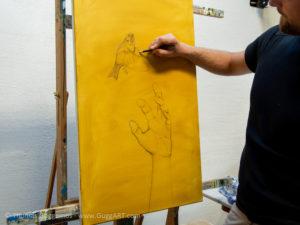 Realistisch malen mit Acryl - Die Skizze