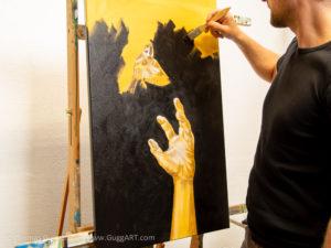 Realistisch malen mit Acryl - Der Hintergrund