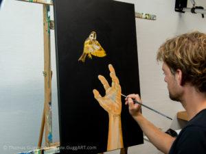Realistisch malen mit Acryl - Erste Farbschichten
