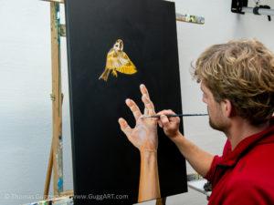 Realistisch malen mit Acryl - Weiter ausarbeiten