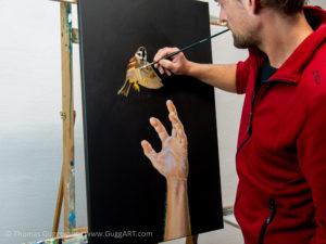Realistisch malen mit Acryl - Zuerst die Grundfarben