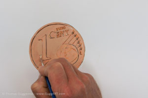 Geld malen mit Acryl - Die zweite Schicht