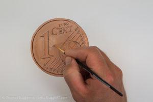 Geld malen mit Acryl - Die hellen Bereiche