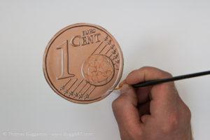 Geld malen mit Acryl - Glanzlichter