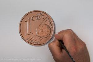 Geld malen mit Acryl - Der Schatten