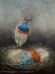Der Wächter - Acrylmalerei auf Leinwand 50x70cm - Thomas Guggemos