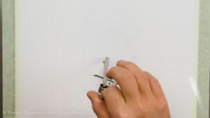 Metallkugel malen - Kreis mit dem Zirkel vorzeichnen