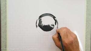 Metallkugel malen - Immer heller