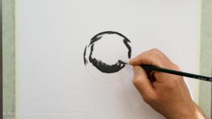 Metallkugel malen - Beginne mit den dunkelsten Bereichen