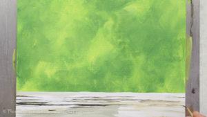 Vogel malen mit Acrylfarbe - Der Hintergrund