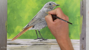 Vogel malen mit Acrylfarbe - Glanzlichter