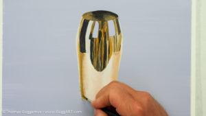 Gold-Effekt malen mit Acrylfarbe - Farben weiter abstufen
