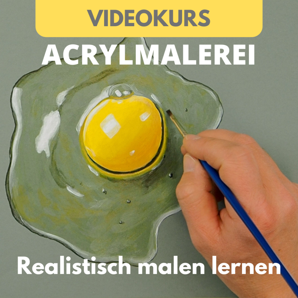 Videokurs - malen lernen mit Acrylfarbe