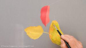Herbstlaub malen mit Acrylfarbe - Mehr Farbe