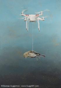 Learning to fly - Acrylmalerei auf Leinwand 70x100cm - Thomas Guggemos